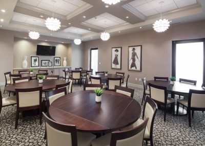 J Bar Davenport private dinning