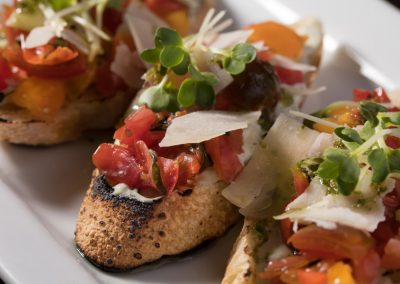 Heirloom Tomato-Basil Crostini=