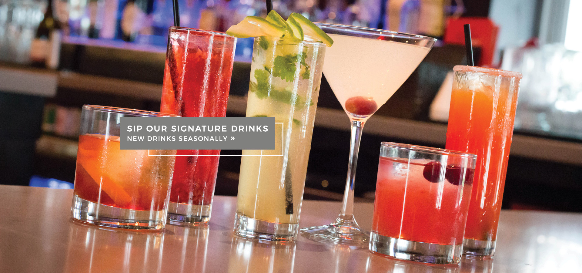 J Bar Signature Drinks